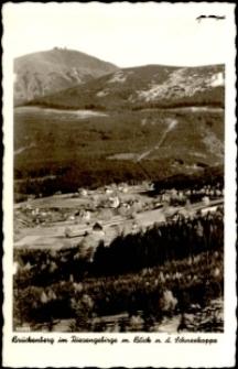 Karpacz Górny - panorama miasta, w tle Śnieżka [Dokument ikonograficzny]