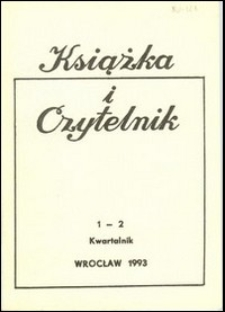 Książka i Czytelnik, 1993, nr 1/2