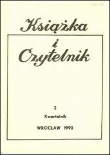 Książka i Czytelnik, 1993, nr 3