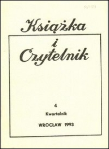 Książka i Czytelnik, 1993, nr 4