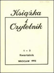 Książka i Czytelnik, 1992, nr 1/2