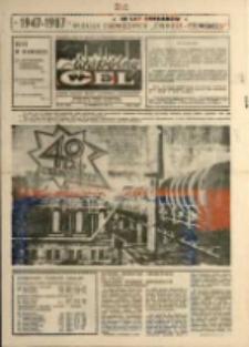 """Wspólny cel : gazeta załogi ZWCH """"Chemitex-Celwiskoza"""" , 1987, nr 27 (1036)"""