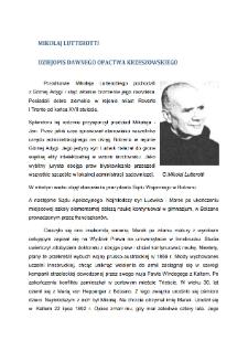 Mikołaj Lutterotti dziejopis dawnego opactwa krzeszowskiego