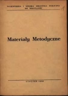 Materiały metodyczne, 1958, nr 1