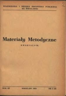 Materiały metodyczne : kwartalnik, R. III, 1958, nr 2 (8)