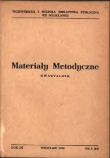 Materiały metodyczne : kwartalnik, R. III, 1958, nr 4 (10)