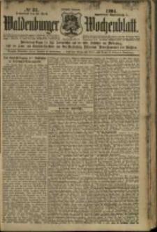 Waldenburger Wochenblatt, Jg. 50, 1904, nr 33