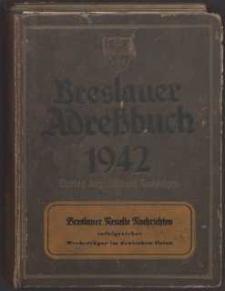 Breslauer Adressbuch für das Jahr 1942