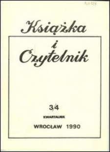 Książka i Czytelnik, 1990, nr 3/4