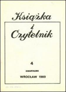 Książka i Czytelnik, 1989, nr 4
