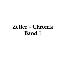 Zeller-Chronik. Bd. 1 [Dokument elektroniczny]