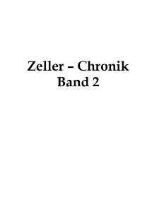 Zeller-Chronik. Bd. 2 und 3 [Dokument elektroniczny]