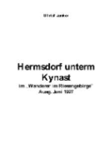 "Hermsdorf unterm Kynast im ""Wanderer im Riesengebirge"" Ausg. Juni 1927 [Dokument elektroniczny]"