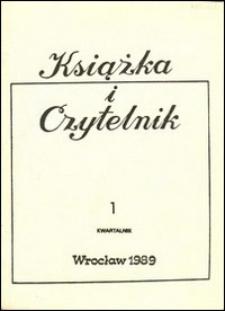 Książka i Czytelnik, 1989, nr 1
