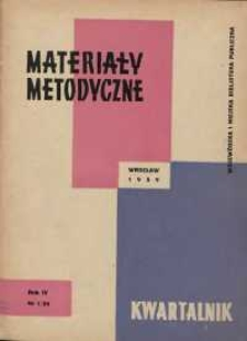Materiały metodyczne : kwartalnik, R. VI, 1959, nr 1 (11)
