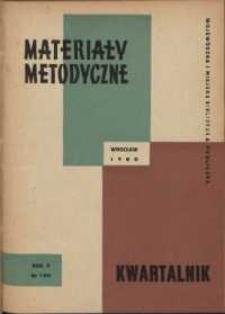 Materiały metodyczne : kwartalnik, R. V, 1960, nr 1 (15)