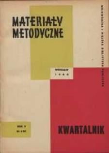 Materiały metodyczne : kwartalnik, R. V, 1960, nr 2 (16)