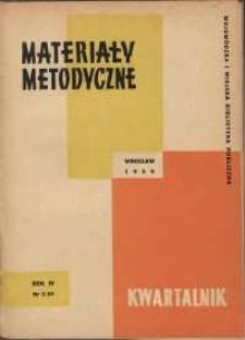 Materiały metodyczne : kwartalnik, R. VI, 1959, nr 3 (13)