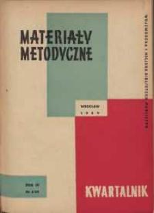Materiały metodyczne : kwartalnik, R. VI, 1959, nr 4 (14)