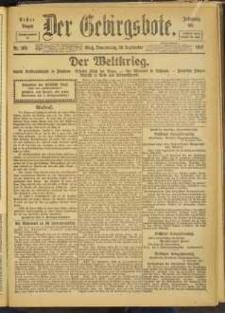 Der Gebirgsbote, 1917, nr 105 [20.09]