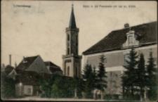 Löwenberg. Partie in der Promenade mit der ev. Kirche [Dokument ikonograficzny]