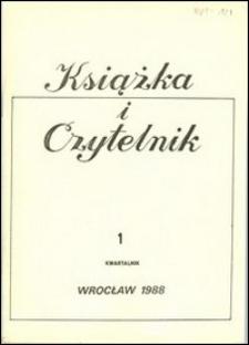 Książka i Czytelnik, 1988, nr 1
