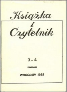 Książka i Czytelnik, 1988, nr 3/4