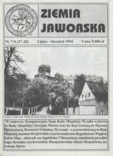 Ziemia Jaworska : miesięcznik samorządowy Ziemi Jaworskiej, 1994, nr 7/8