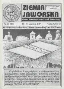 Ziemia Jaworska : pismo samorządowe Ziemi Jaworskiej, 1994, nr 16