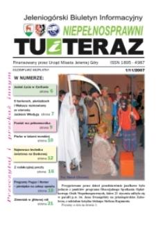 Niepełnosprawni Tu i Teraz : jeleniogórski biuletyn informacyjny niepełnosprawnych, 2007, nr 1 (11)