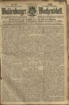 Waldenburger Wochenblatt, Jg. 51, 1905, nr 17