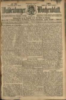 Waldenburger Wochenblatt, Jg. 51, 1905, nr 29