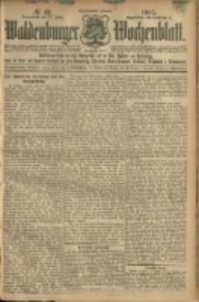 Waldenburger Wochenblatt, Jg. 51, 1905, nr 49