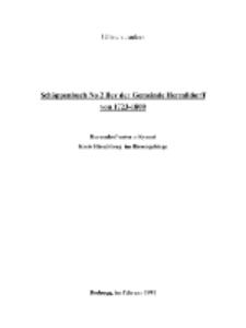 Schöppenbuch No 2 Bey der Gemeinde Hermßdorff von 1723-1800 [Dokument elektroniczny]