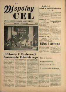 """Wspólny cel : Dwutygodnik załogi """"Celwiskozy"""" , 1958, nr 15"""
