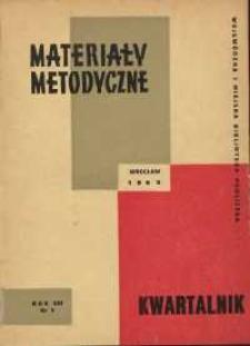 Materiały metodyczne : kwartalnik, R. VIII, 1963, nr 1 (11)