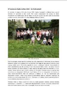 27 wycieczka Rajdu na Raty 2016 – do Andrzejówki [Dokument elektroniczny]