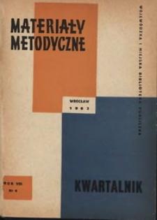Materiały metodyczne : kwartalnik, R. VIII, 1963, nr 4