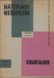 Materiały metodyczne : kwartalnik, R. IX, 1964, nr 1