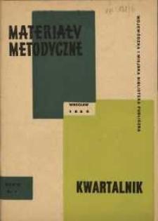 Materiały metodyczne : kwartalnik, R. XI, 1966, nr 1