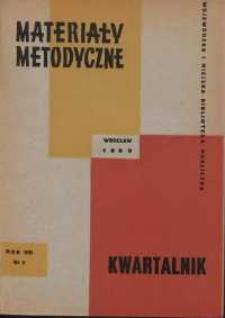 Materiały metodyczne : kwartalnik, R. XI, 1966, nr 2