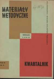 Materiały metodyczne : kwartalnik, R. XI, 1966, nr 3