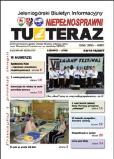 Niepełnosprawni Tu i Teraz : jeleniogórski biuletyn informacyjny niepełnosprawnych, 2007, nr 5/6 (15/16)