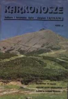 Karkonosze: Kultura i Turystyka, 1992, nr 7/8 (178/9)