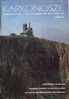 Karkonosze: Kultura i Turystyka, 1992, nr 9/10 (180/1)