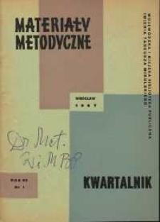 Materiały metodyczne : kwartalnik, R. XII, 1967, nr 1