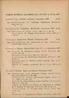Wybór recenzji za okres 1.IV-30.IX.1967