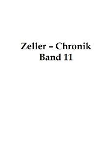 Zeller-Chronik. Bd. 11 [Dokument elektroniczny]