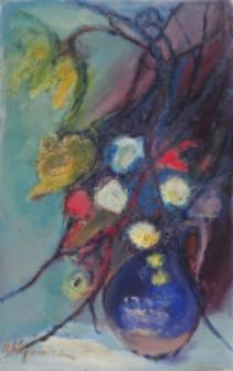 Kwiaty w wazonie [Dokument ikonograficzny]