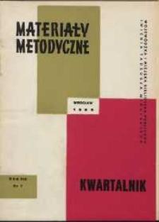 Materiały metodyczne : kwartalnik, R. XIII, 1968, nr 1